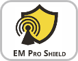 Electro magnetic shielding absorbtion with EM Pro Shield Technology