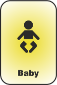 A pictogram of a baby