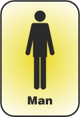 A pictogram of a man