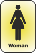 A pictogram of a woman